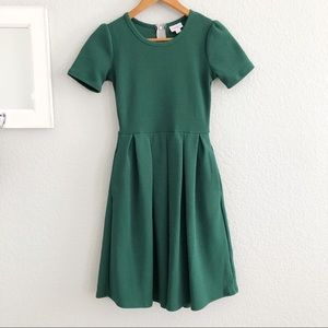 LuLaRoe Amelia Solid Green Full A-Line Dress